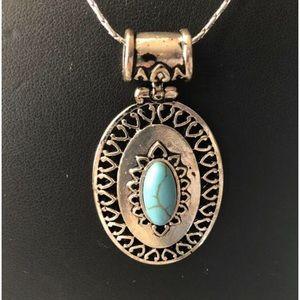 Jewelry - Turquoise pendant w/ hypoallergenic chain
